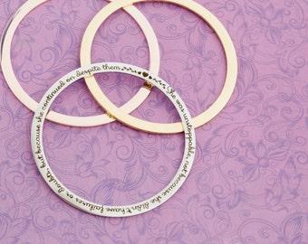 She Was Unstoppable - Stainless Bangle Bracelet - Engraved Jewelry - Engraved Bracelet - Bangle Bracelet - Beau Taplin - Gold Bracelet