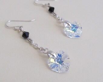 Petite Heart Drops in Fiery Crystal-Free Shipping
