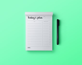 Daily To Do List, Daily Tasks Desk Pad, Today's Plan, Planner Desk Pad, List Making, Planner Notebook, Planner Notepad, Today's Planner Pad