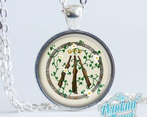 Earth Awen Celtic Pagan Necklace Druid Jewelry Pendant