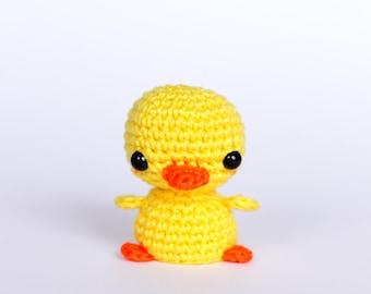 Mini crochet duck plush, Duckling amigurumi crochet animals, Tiny crochet amigurumi animals, Crochet plush animals, Cute gifts for friend