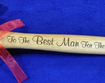 Groomsmen Gift ~ Best Man Gift ~ Engraved Hammer ~ Wedding Party Gifts ~ Engraved Groomsmen Gifts ~ Personalized Hammer ~ Custom Groom Gift
