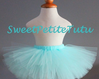 Aqua tutu, Light blue tutu, Blue tutu, Sky blue tutu, Preemie, Newborn to 14/16 teen, Birthday, girls, baby, newborn tutu, Preemie