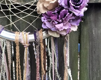Recycled rustic dreamcatcher