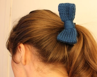 Knit Hair Tie Bow
