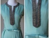 1960s Mint Cocktail Dress
