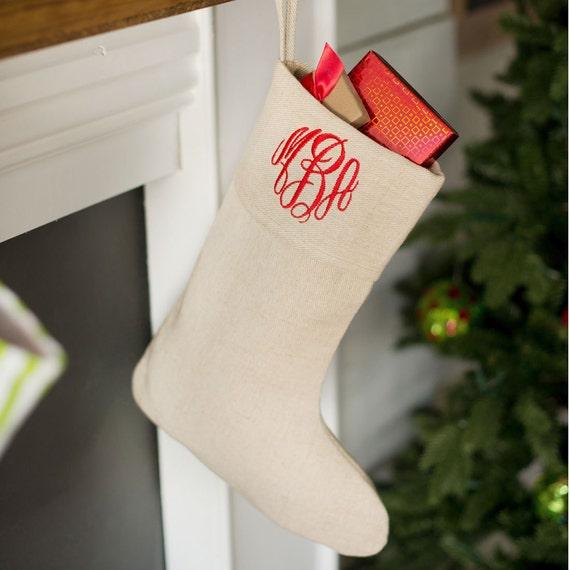 Christmas Stocking, Monogrammed Christmas Stocking, Personalized Stocking, Christmas Decor, Monogrammed Gifts, Personalized Holiday Decor