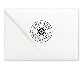 Personalized Stamp - Custom Stamp - Name Stamp - Wedding Stamp - Nautical Stamp