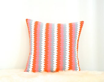 Multicolour Zig Zag Pattern Envelope Cushion Cover