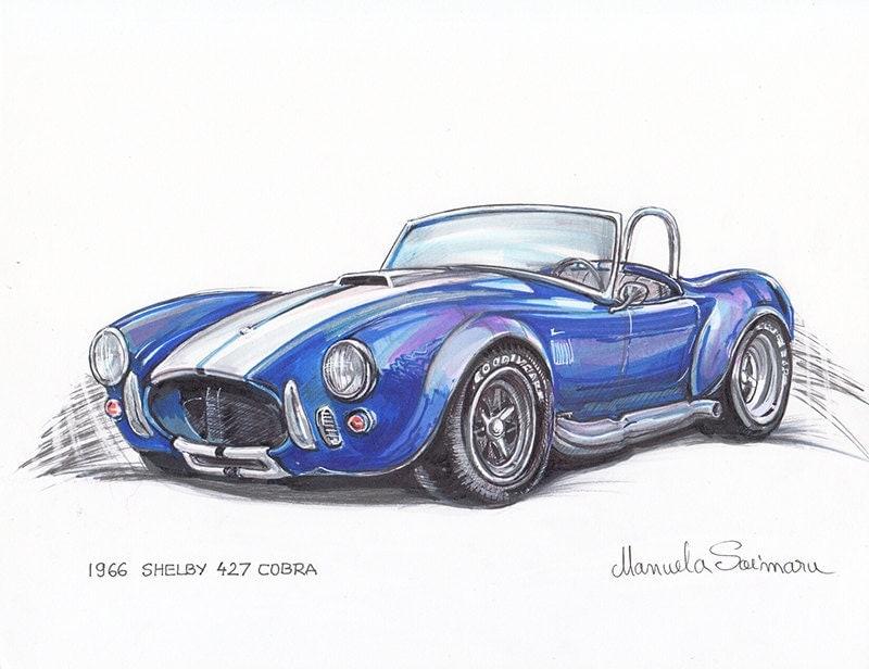 custom drawing designs car sketch original print drawing minimalist art automobile