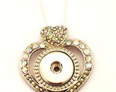 Snap Necklace- Heart Shap...