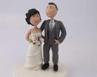 Cheeky couple. Hands on butt. Custom wedding cake topper. Wedding figurine. Handmade. Fully customizable. Unique keepsake