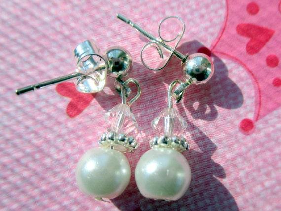 flower girl earrings children 39 s clip on earrings girls. Black Bedroom Furniture Sets. Home Design Ideas