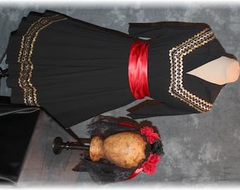 Day of the Dead Costume / Día de los Muertos / Mexican-Latino Style Costume-Medium (A86)