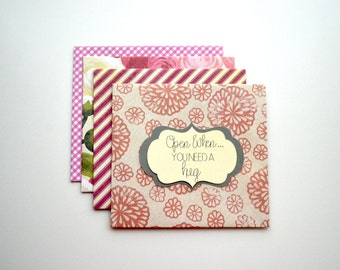 """Pink Handmade Personalized """"Open When"""" Envelopes/Letters, Choose Quantity"""