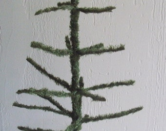 "1950's(1940's ?)Vtg.artificial CHRISTMAS TREE orig.celluloid/early plastic style/metal/wood tree-28 1/2""ht.One owner(family)O/all EXCEL.cond"