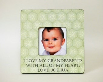 Grandparents Gift New Grandparents Personalized Picture Frame Grandparents Day Gift from Baby Grandchild Custom Photo Frame Grandmother Gift