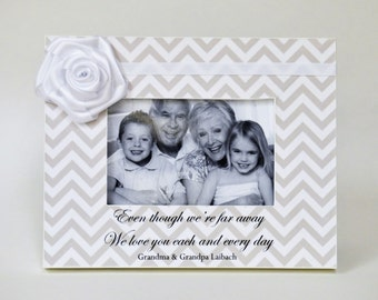 Grandparents Gift Long Distance Personalized Picture Frame Gift for Grandparents from Baby Grandchild Grandparent's Day Custom Photo Frame