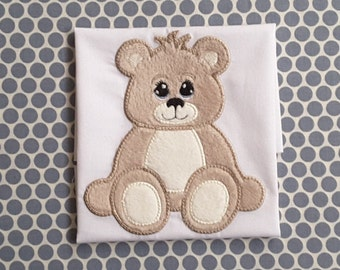 Baby Applique Machine Embroidery Design Teddy Bear