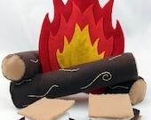 Felt Campfire Set and S'mores