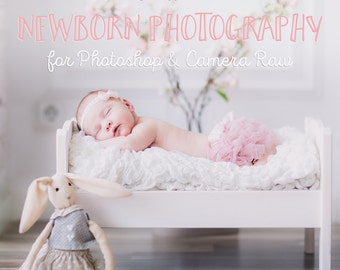 Newborn Photoshop Actions & Portrait Photography Essential Collection | Soft Skin | Creamy tones | Newborn Photography Editing in 1-click