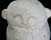 JIZO Pottery Handmade Candle Holder Garden Statue Zen Yoga Mediation Acupuncture  Mindful Buddha Yoga teacher gift In the moment Tea Light