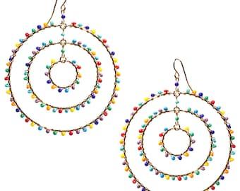Multi Color Hoops // Large Hoops //