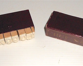 SERIE NUMERI 50s italy - stamps for ink pad with numbers - mint in box