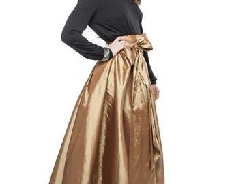 Long gold skirt   Etsy