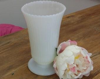 Gorgeous E. O. Brody Milk Glass Vase!