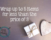 gift wrap 5 items www.knitabitofwhimsy.etsy.com