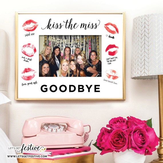 Kiss The Miss Goodbye Framing Mat Bachelorette Party