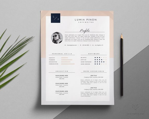 creative resume template stylish resume template by thispaperfox