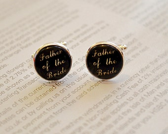 Father of the Bride  cufflinks gift , father wedding cuff links , father wedding gift,dad wedding Cuff links gift