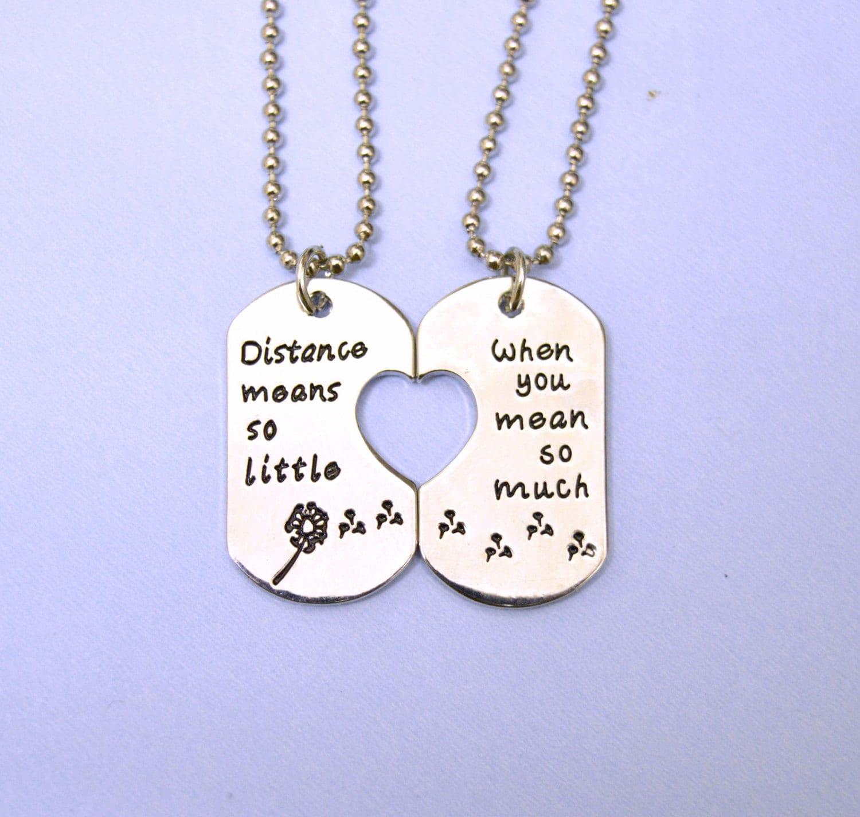long distance relationship necklace set long distance