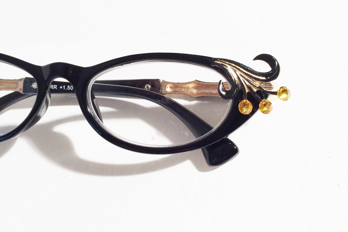 cat eye reading glasses glamours 1 50