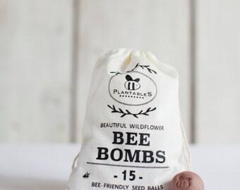 Bee Bombs - wildflower seed balls for pollinators, bag of 15