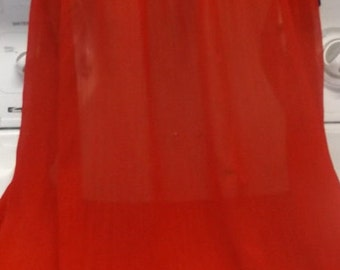 Womens Plus Size Sheer Red Chemise Gown 3X XXXL Night Gown