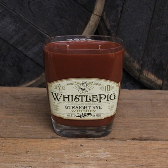 Whistle Pig Bourbon Candle Present For Guys, Valentines Bourbon Gift, Gift For Men, Guy Gift, Valentines Present For Him, Man Cave Present