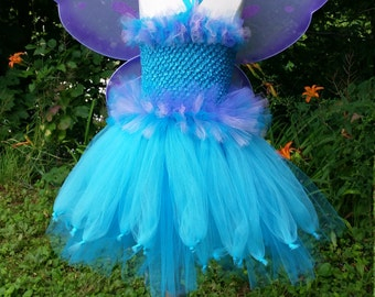 Abby Cadabby inspired Tutu Dress with wings, wand and hairbows