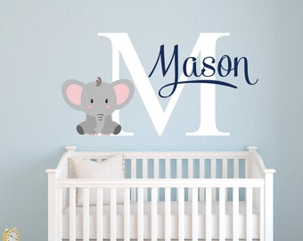 Nursery Wall Decal Etsy - Nursery wall decals elephant