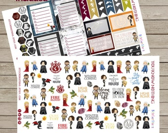 You know nothing... Cute Planner Stickers