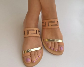 Greek sandals,meander sandals,ancient greek sandals,leather sandals,womens shoes,greek sandals,handmade sandals,gifts,sandals,womens sandals