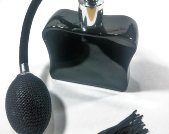 Classic Black Perfume Bottle/Atomizer Signed R