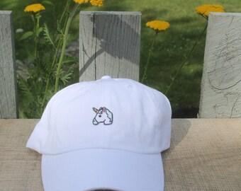 SALE~ Unicorn patch on white baseball hat