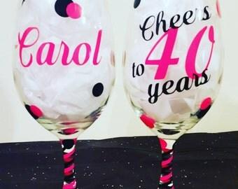 Custom Personalized Birthday Glass