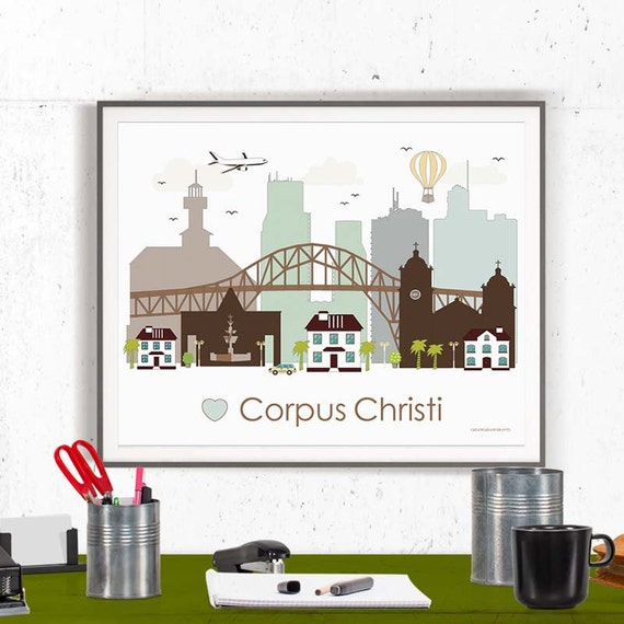 home decor stores corpus christi corpus christi print poster wall by greengreendreams 12464