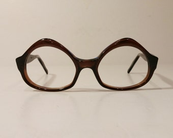Vintage 1960's Swank Vanessa Maple Sand Tortoise Eyeglass Frames, Glasses Frames, New Old Stock!