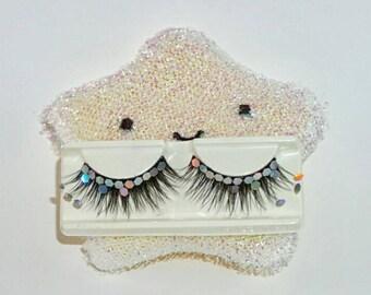 Mermaid scales strip lashes