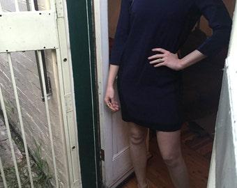 SALE Fabulous Max & Co Navy and Black Mini Dress Small